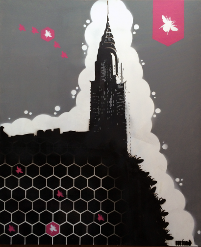 NYC Hive (180x100cm)